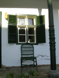 "Feel history on traditional balcony called ""tornac"""