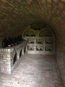Wine cellar with local wines