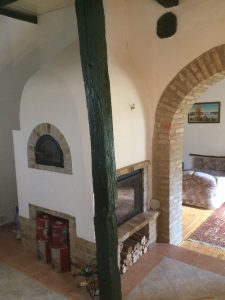 Traditional Hungarian baking oven and fireplace