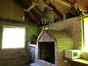 Forest House open fireplace, where  you can grill and cook